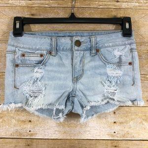 American Eagle Cut Off Shorts Sz 0